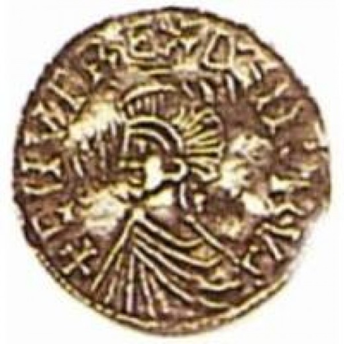 English coin minted for Knut Sveinsson early in his reign over England, before his older brother Harald died.and his reign extended to Danish territories