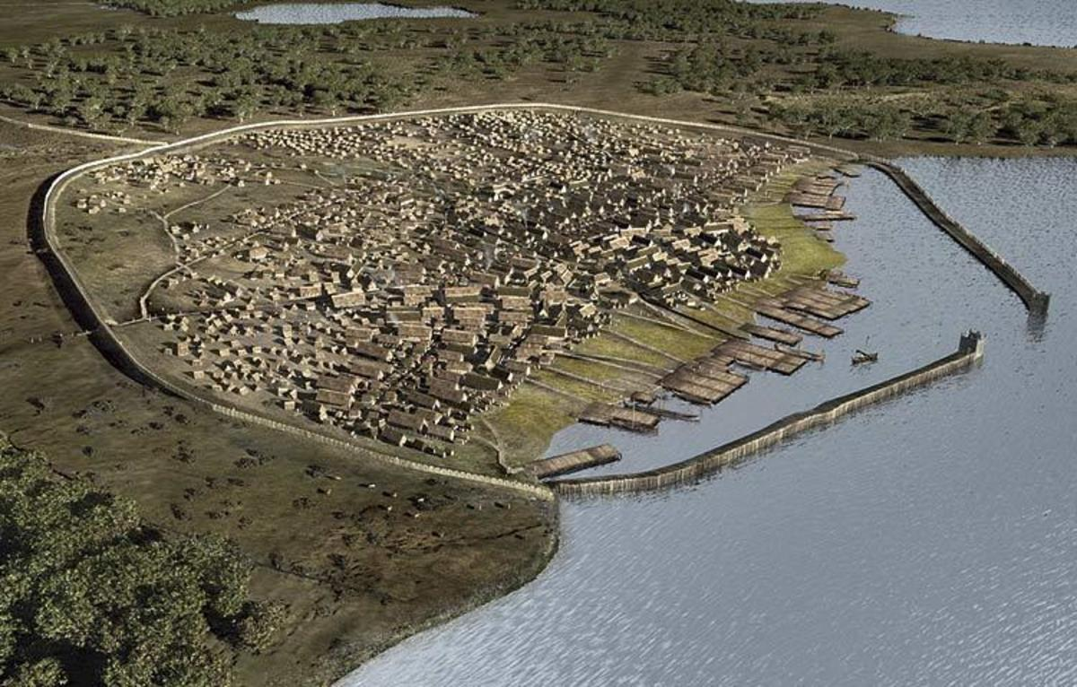 Reconstruction of the trading port of Hedeby in Angeln, (since 1864 within Schleswig-Holstein Germany)