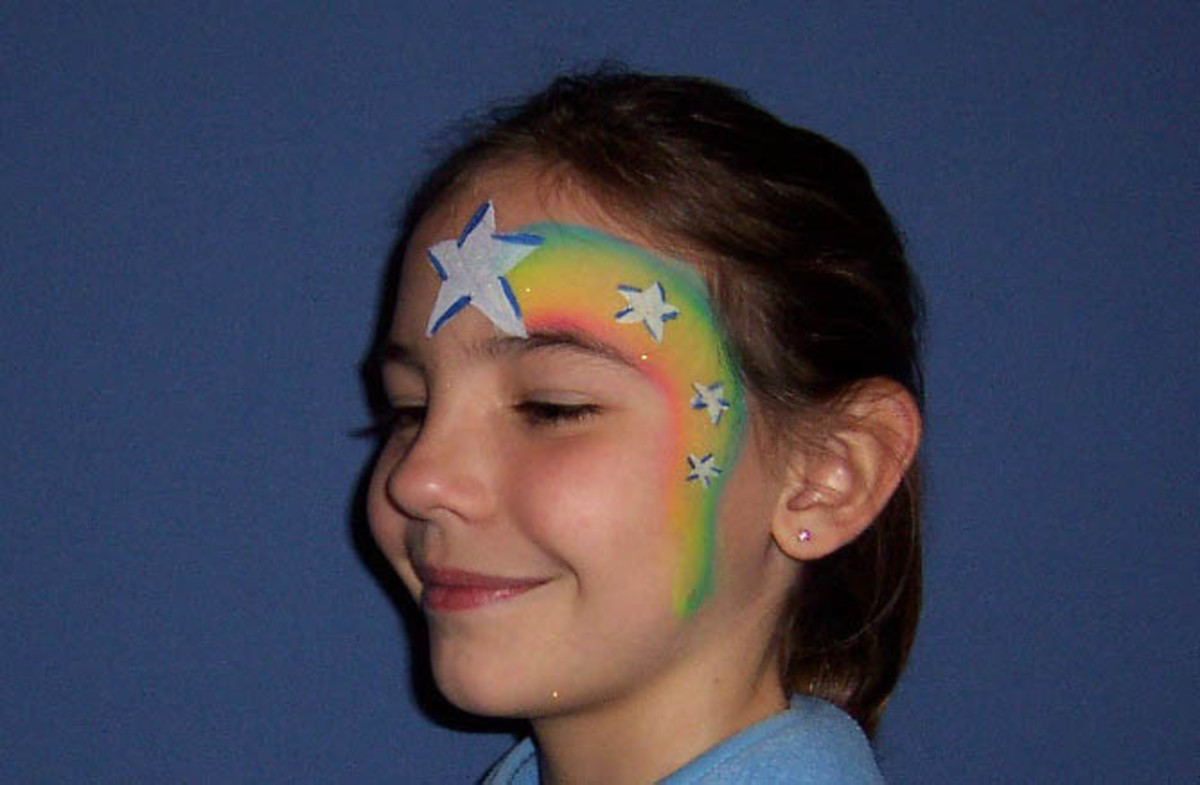 Star face painting for children designs tips and tutorials cascading stars face painting sciox Images