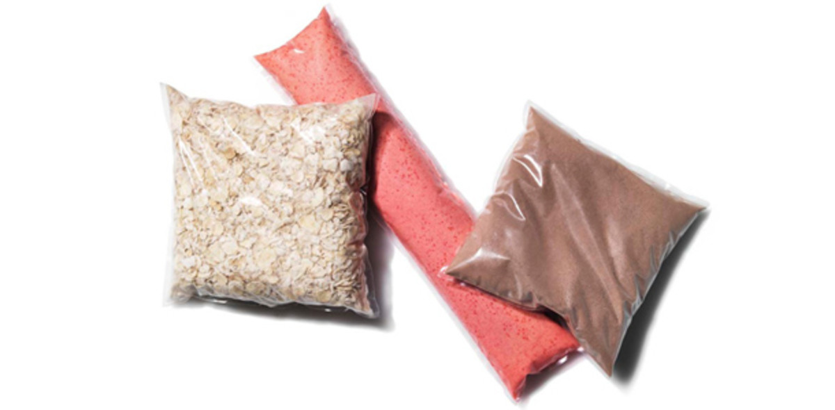 This is food packaged in edible containers.