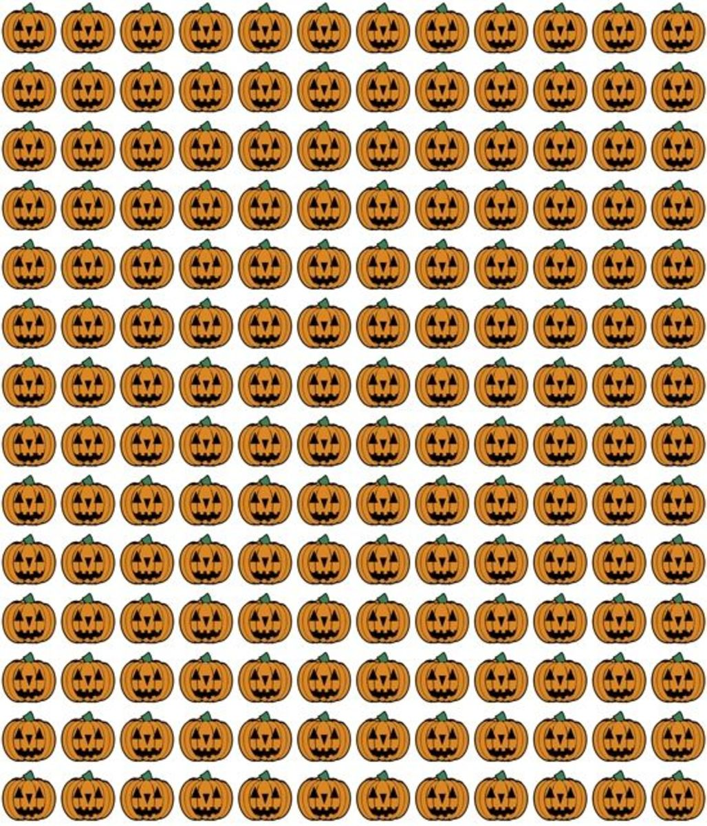 Jack-o-Lanterns pattern Halloween printable.