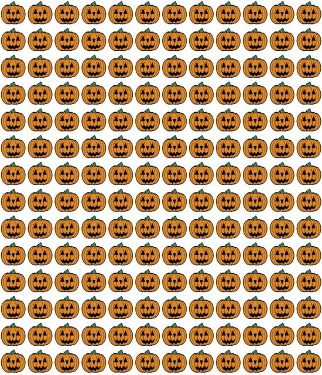 Jack-o-Lanterns pattern Halloween printable.