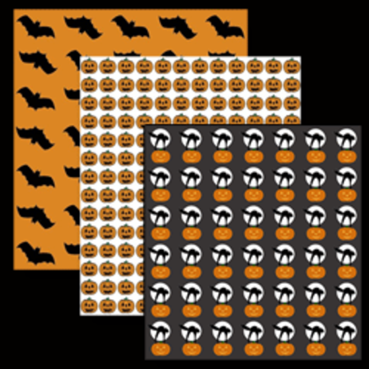 Free Printable Halloween Scrapbooking Patterns & Frames