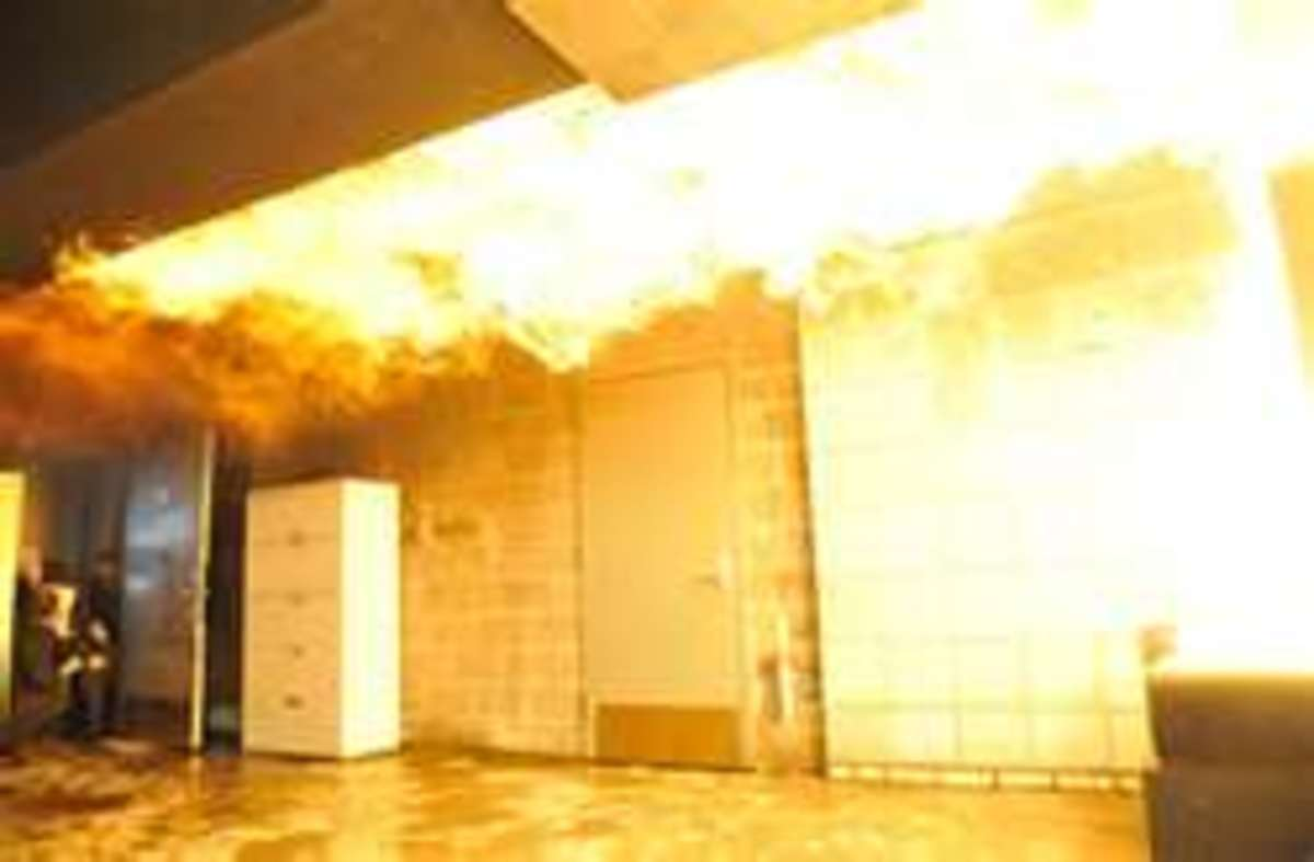 Flameover occurs at the ceiling level