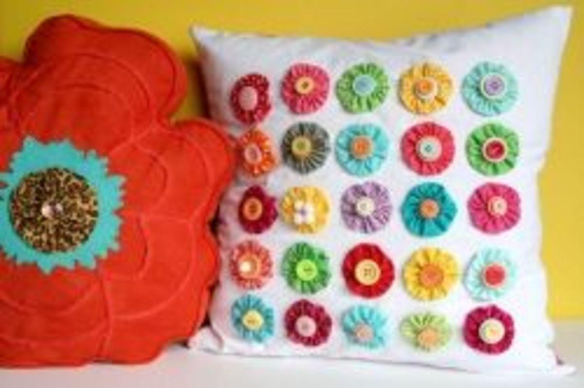 Fabric YoYo Pillow