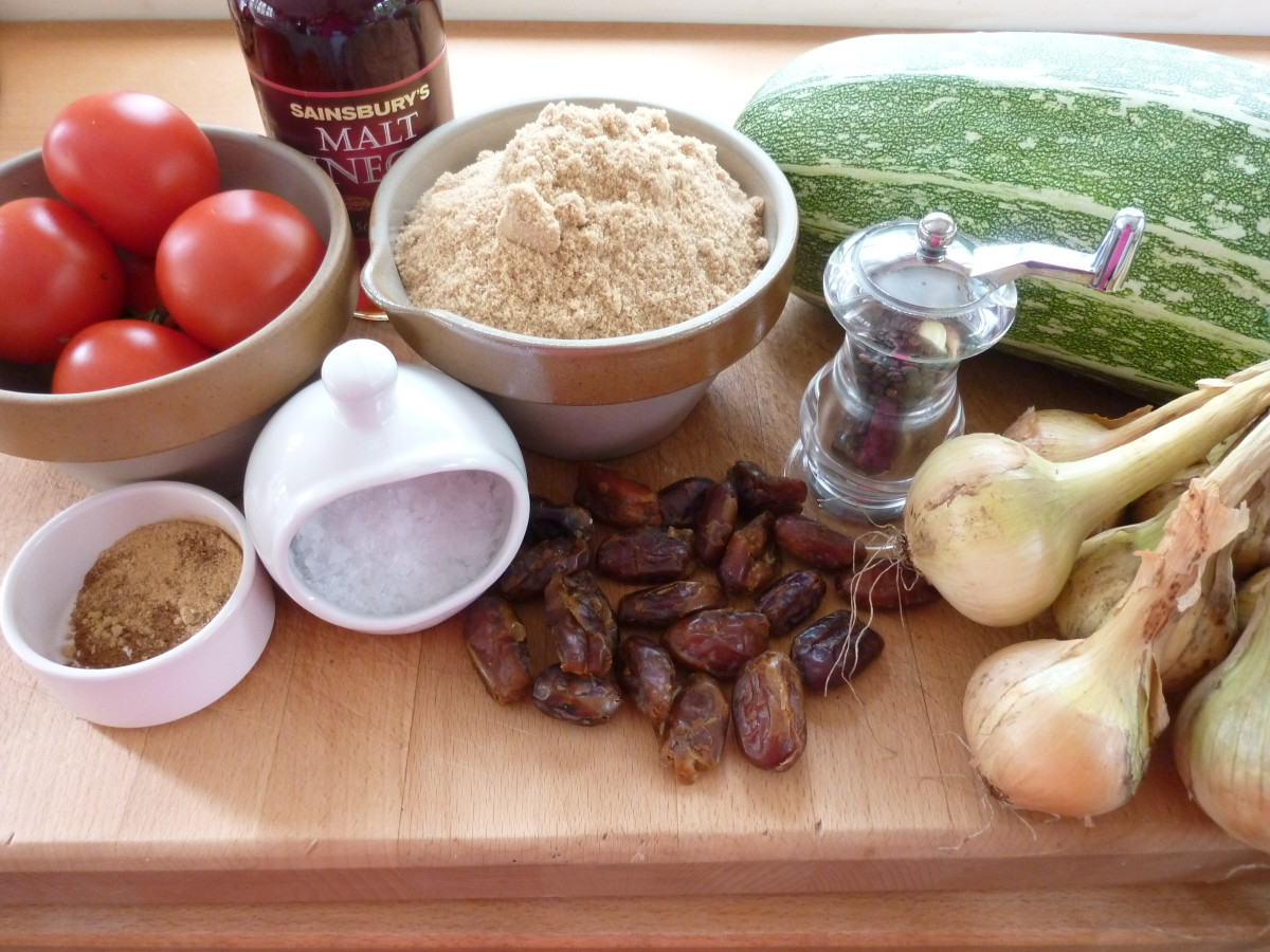 A recipe for Date and Marrow Chutney.