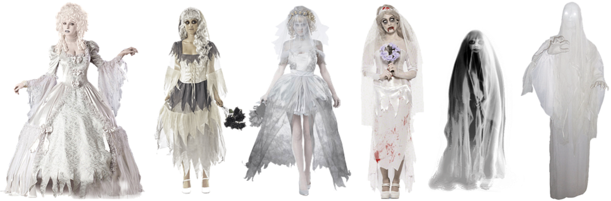 Victorian ghost costumes, each unique!