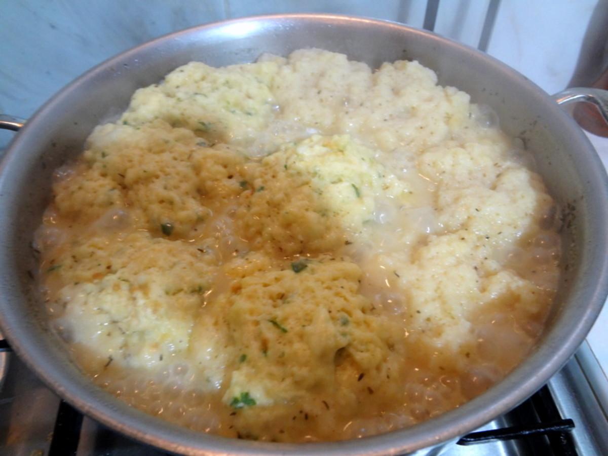 Add the dumplings