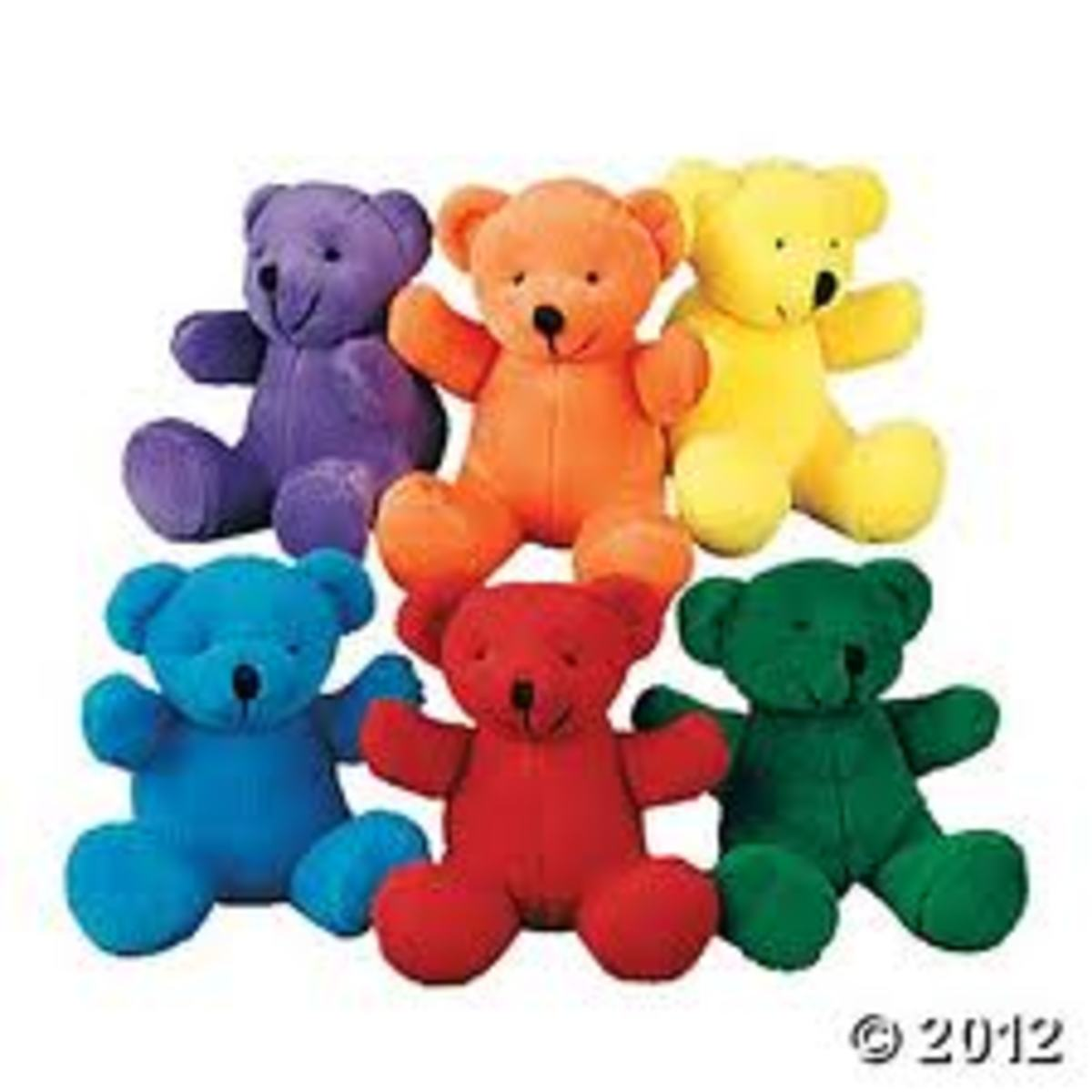 COLORFUL BEARS FROM THE ORIENTAL TRADING COMPANY