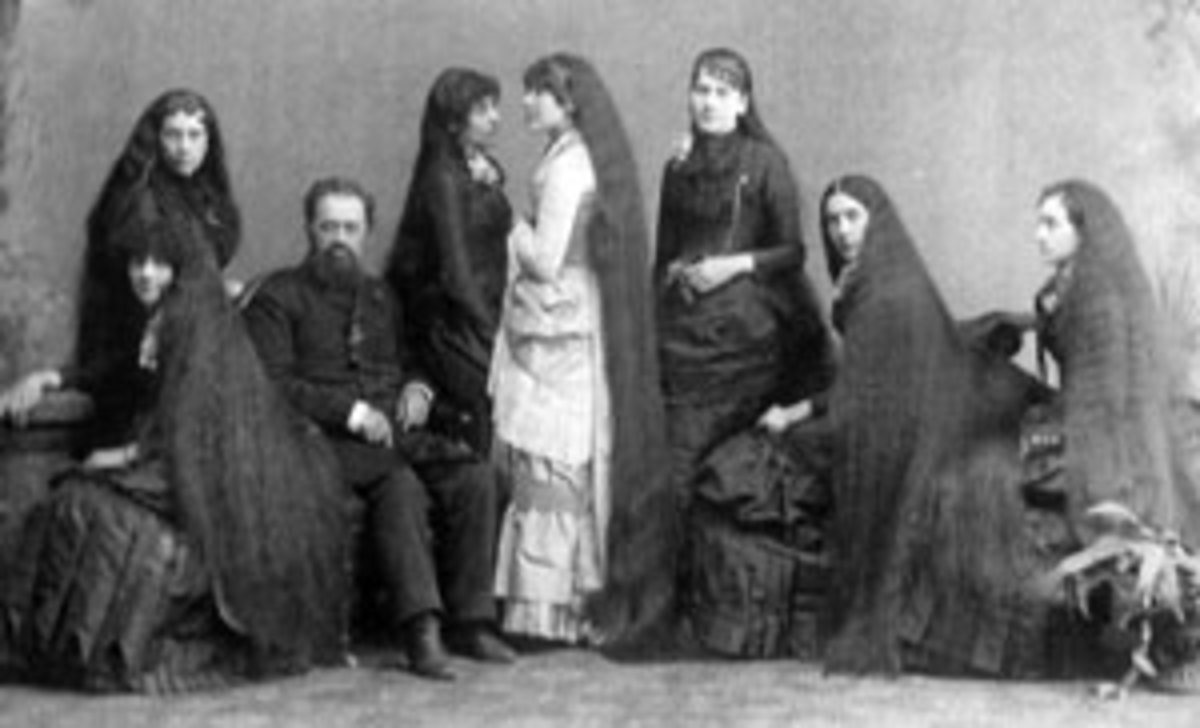 Fletcher Sutherland and his daughters