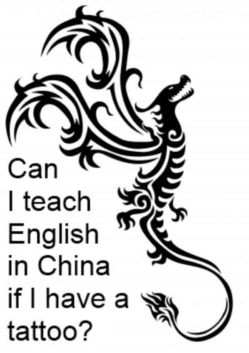 Can I teach ESL in China if I have a tattoo?