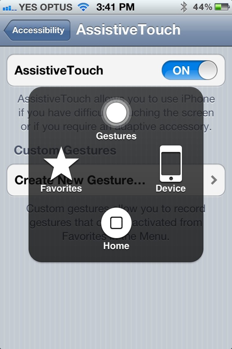 Assistive Touch - Virtual Home Button on the iPhone