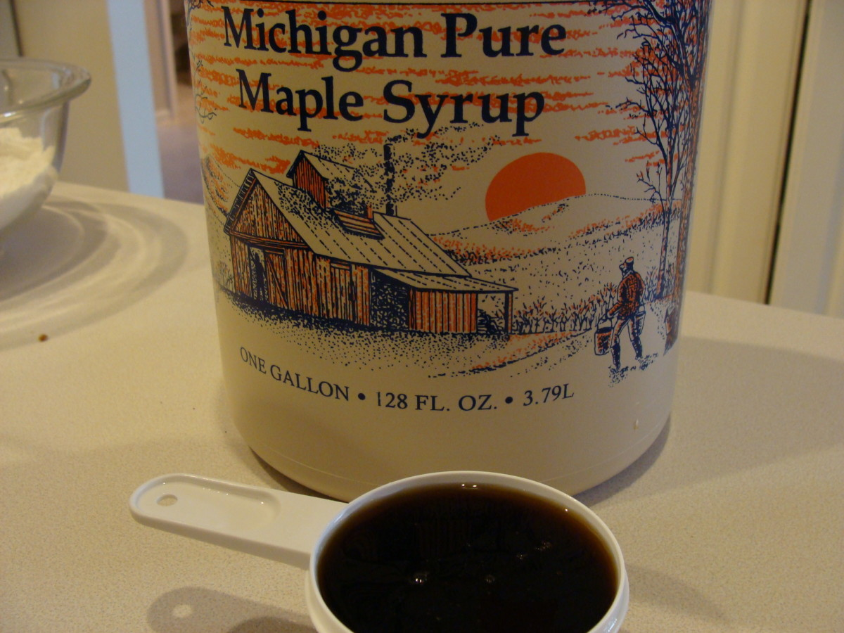 Pure maple syrup is thick rich in look and taste.