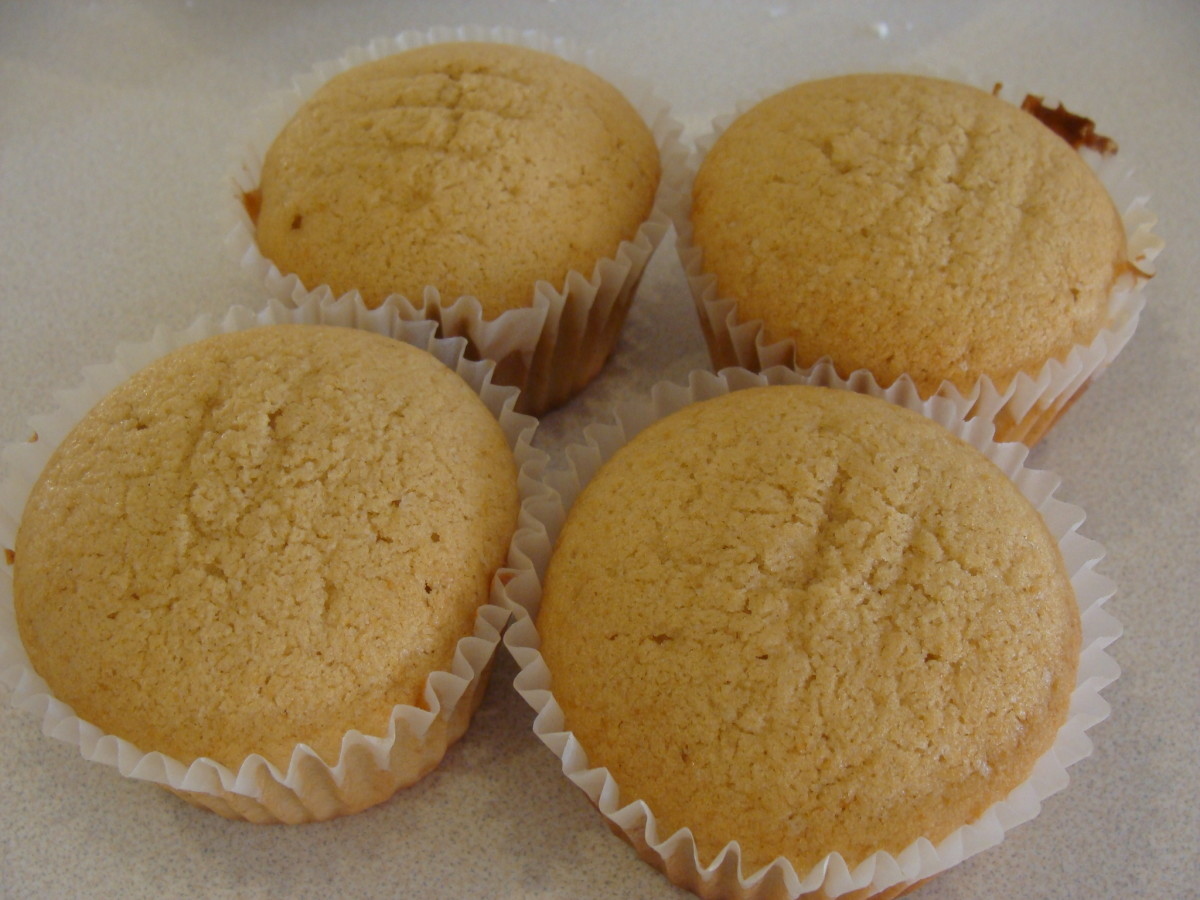 Cupcakes should be slightly golden and cooked through.