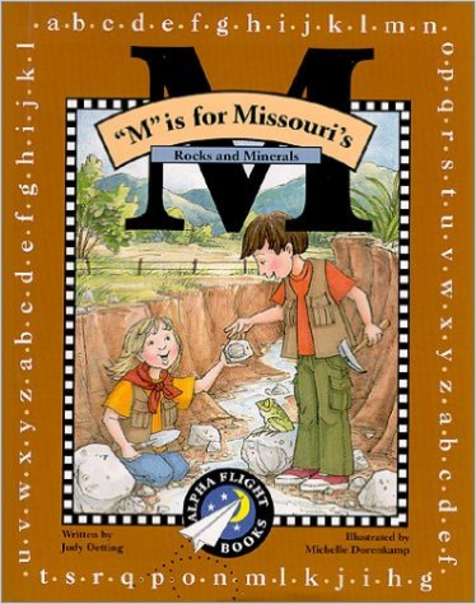 M Is for Missouri: Rocks and Minerals (Alpha Flight Books) by Judy Oetting