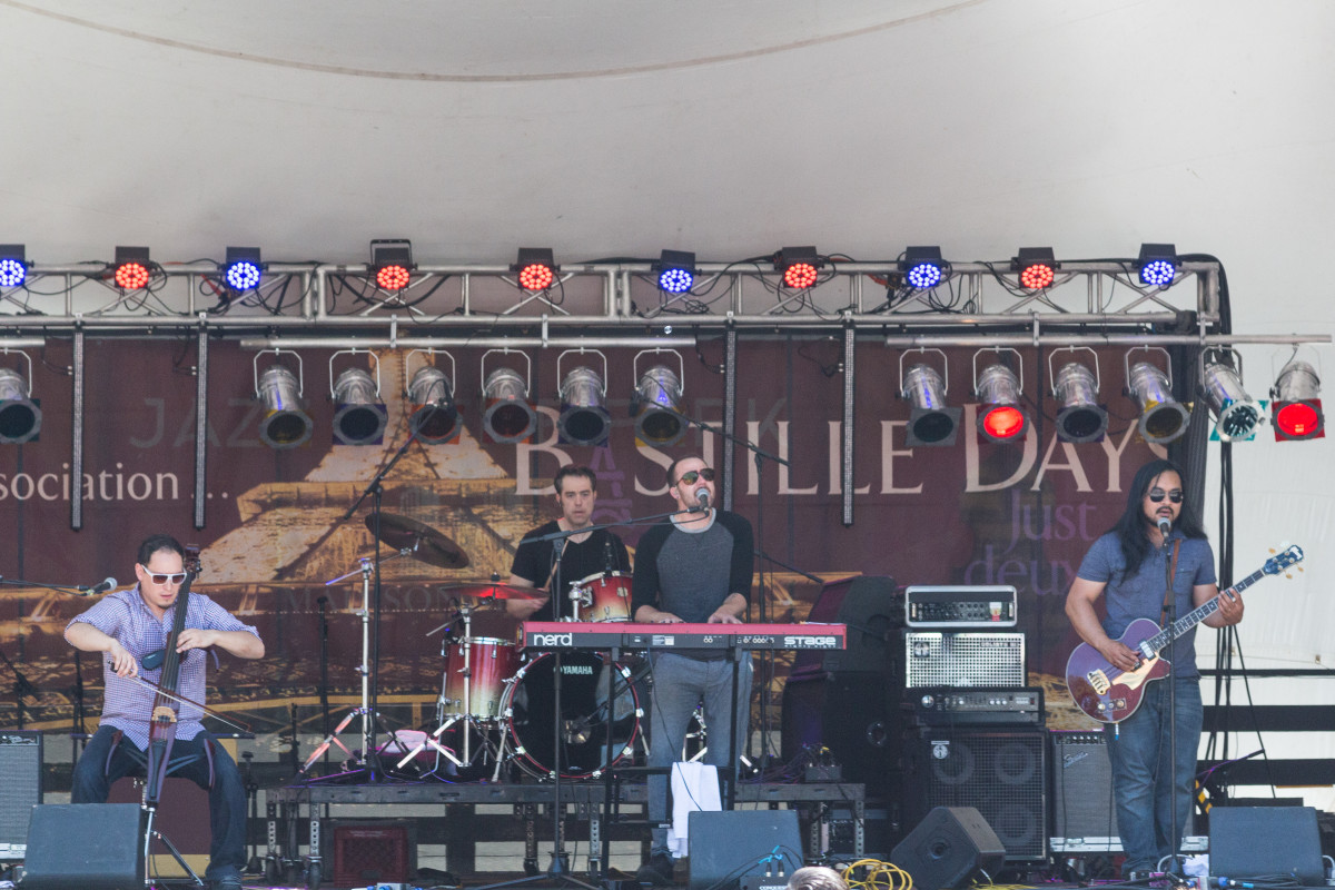 Local indie rock band I'm Not a Pilot performing at Bastille Days 2015.