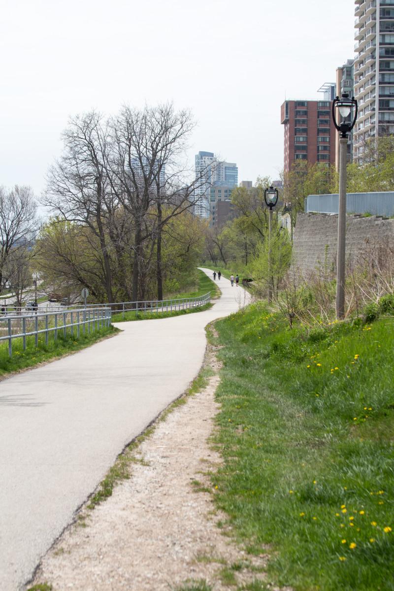 the Oak Leaf Trail in downtown Milwaukee