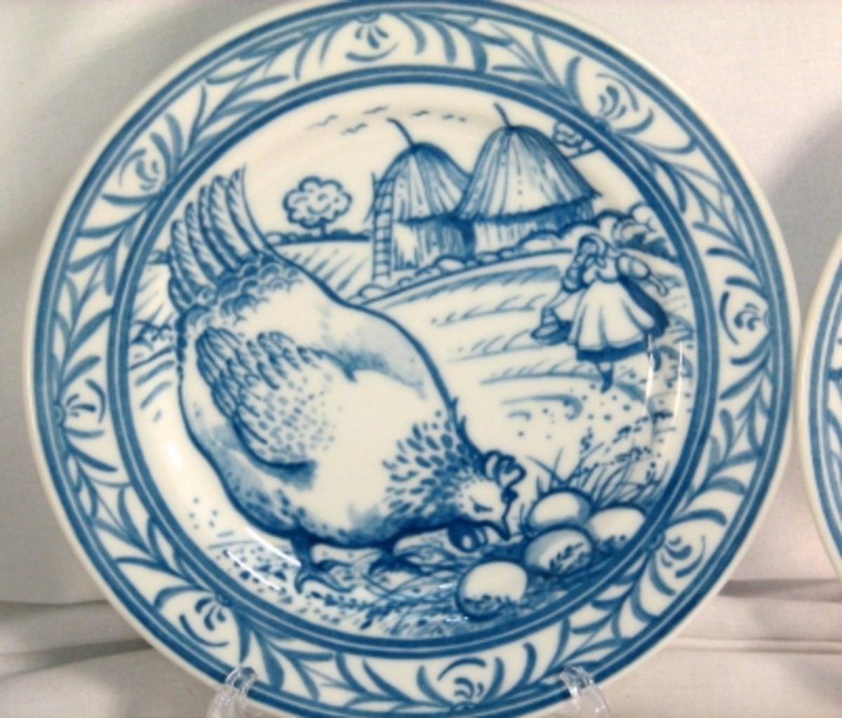 Charming Chicken Plate - Salad plate from the Brittany pattern set by Williams-Sonoma