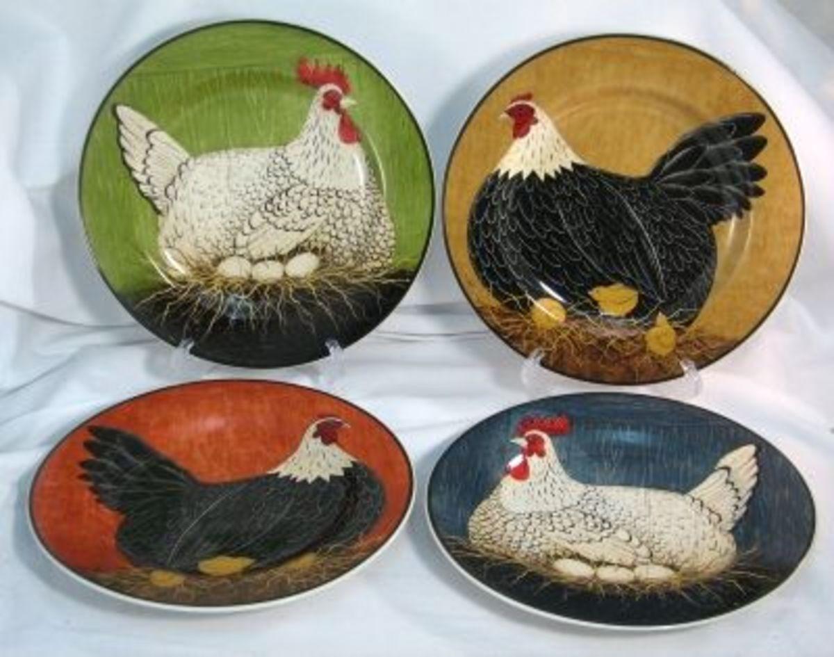 Henny Penny pattern plates designed by Warren Kimble