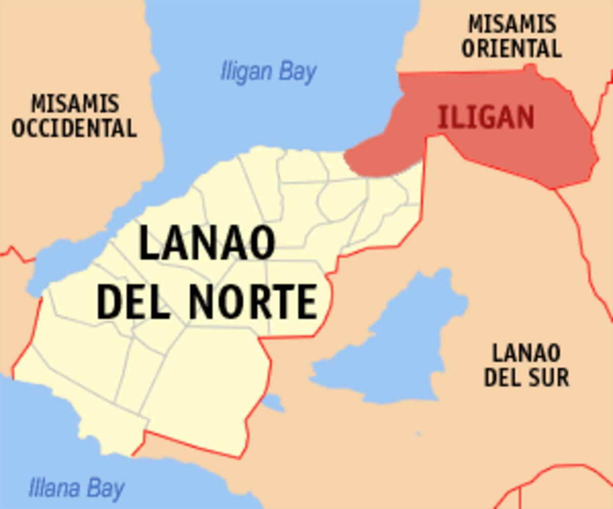 Iligan City on the map.