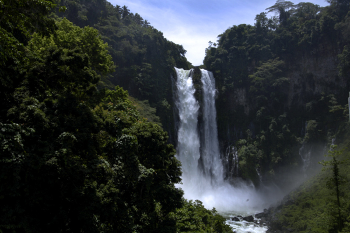 Maria Cristina Falls located in Iligan City in the Mindanao region of the Philippines.