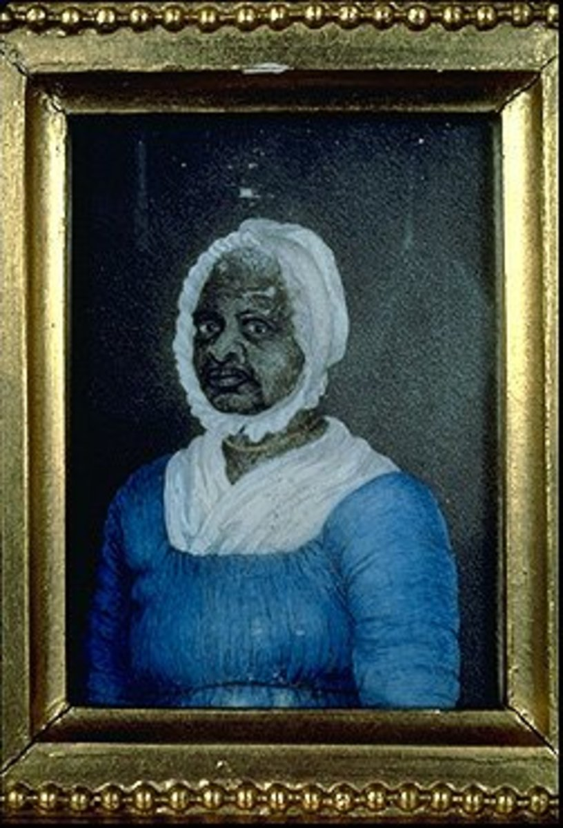 """Elizabeth """"Mumbet"""" Freeman ( ca. 1744-1829) 1811 Watercolor on ivory by Susan Anne Livingston Ridley Sedgwick (1788-1867). Gift of Maria Banyer Sedgwick, 1884. Original watercolor at the Massachusetts Historical Society"""