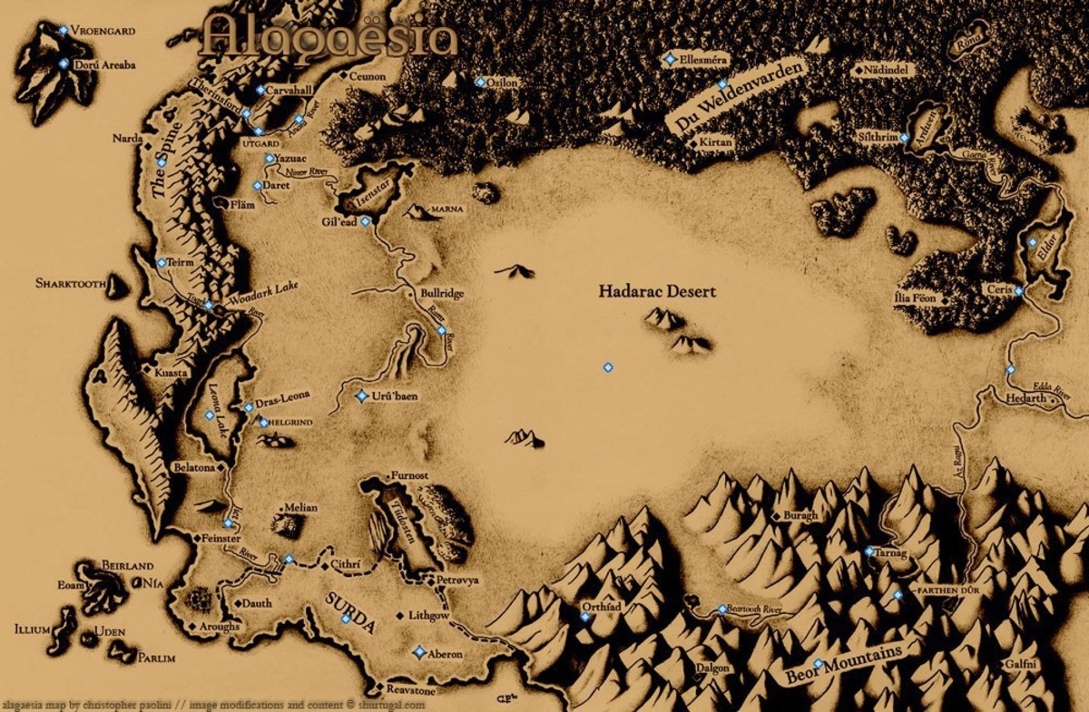 How to design a map for a fictional fantasy world - simple steps
