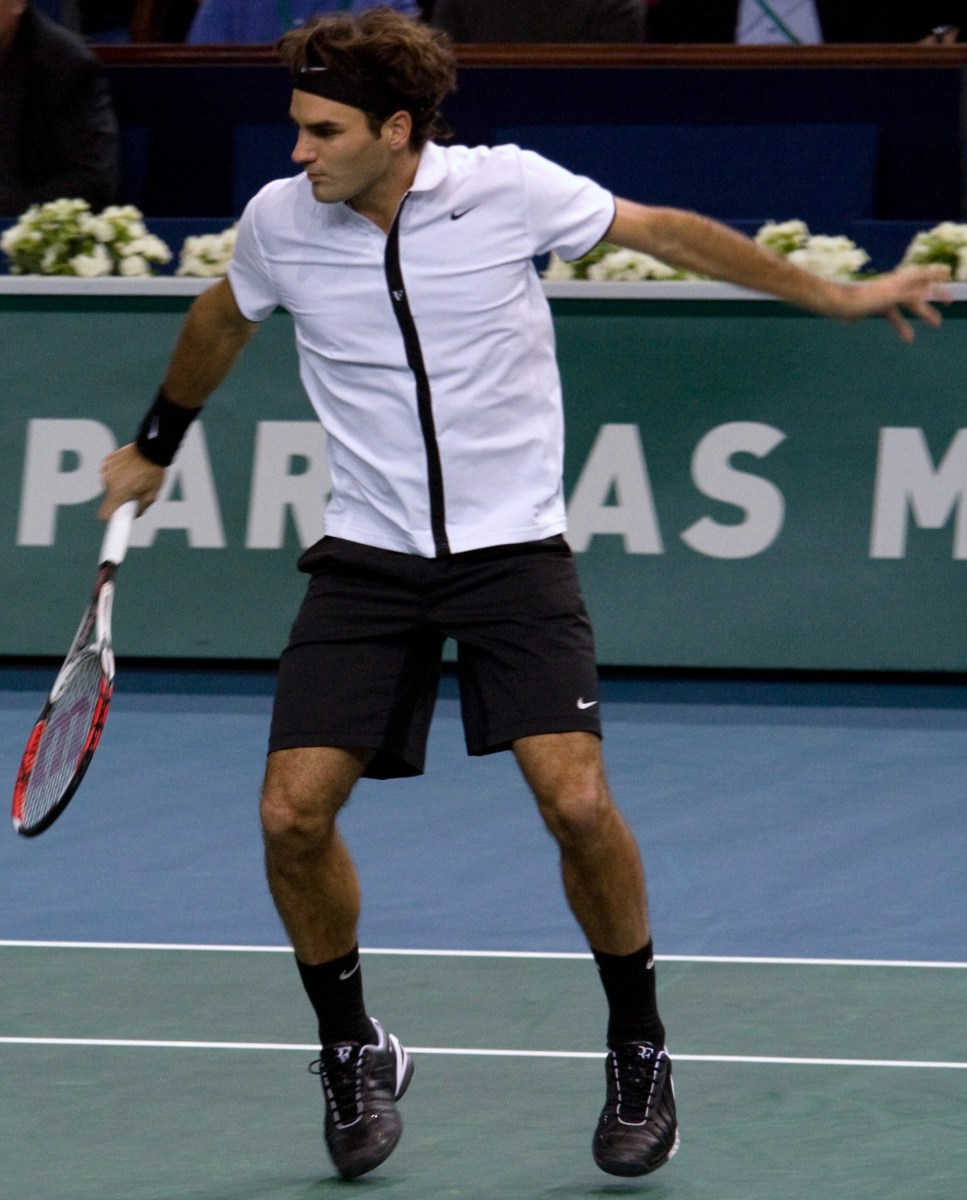 Roger Federer is the master of controlled aggression.