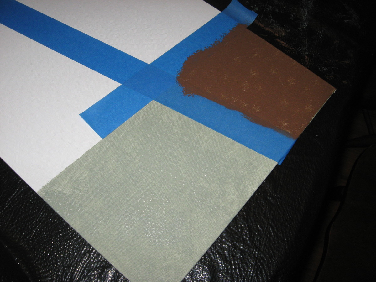 Use painter's tape to mark off sections.