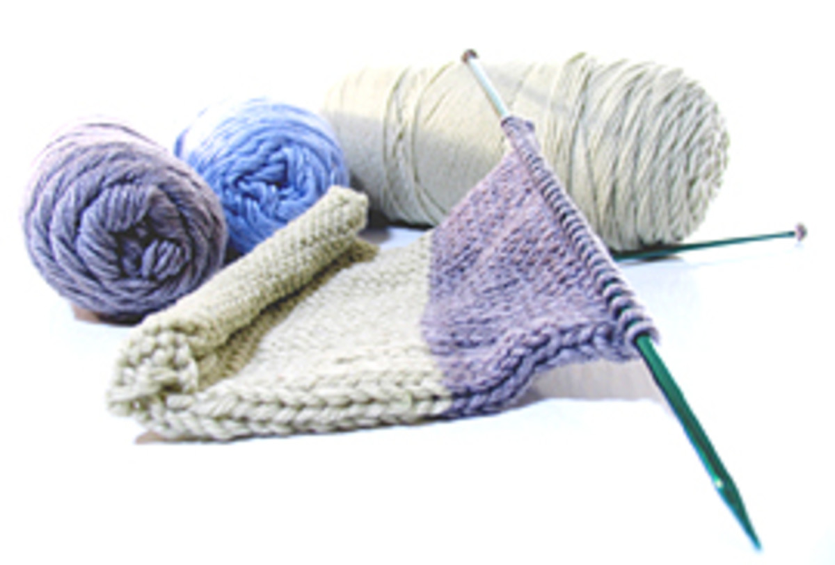 Knitting is a craft from long ago.