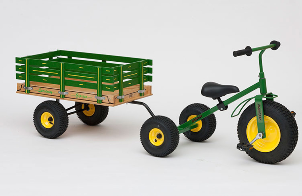 Large kids tricycle and trailer