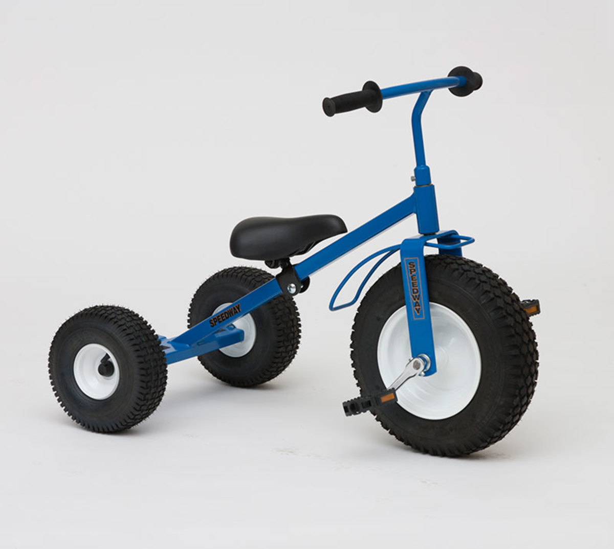 Tricycle and trailers are available in red, John Deer green, blue and hot pink!
