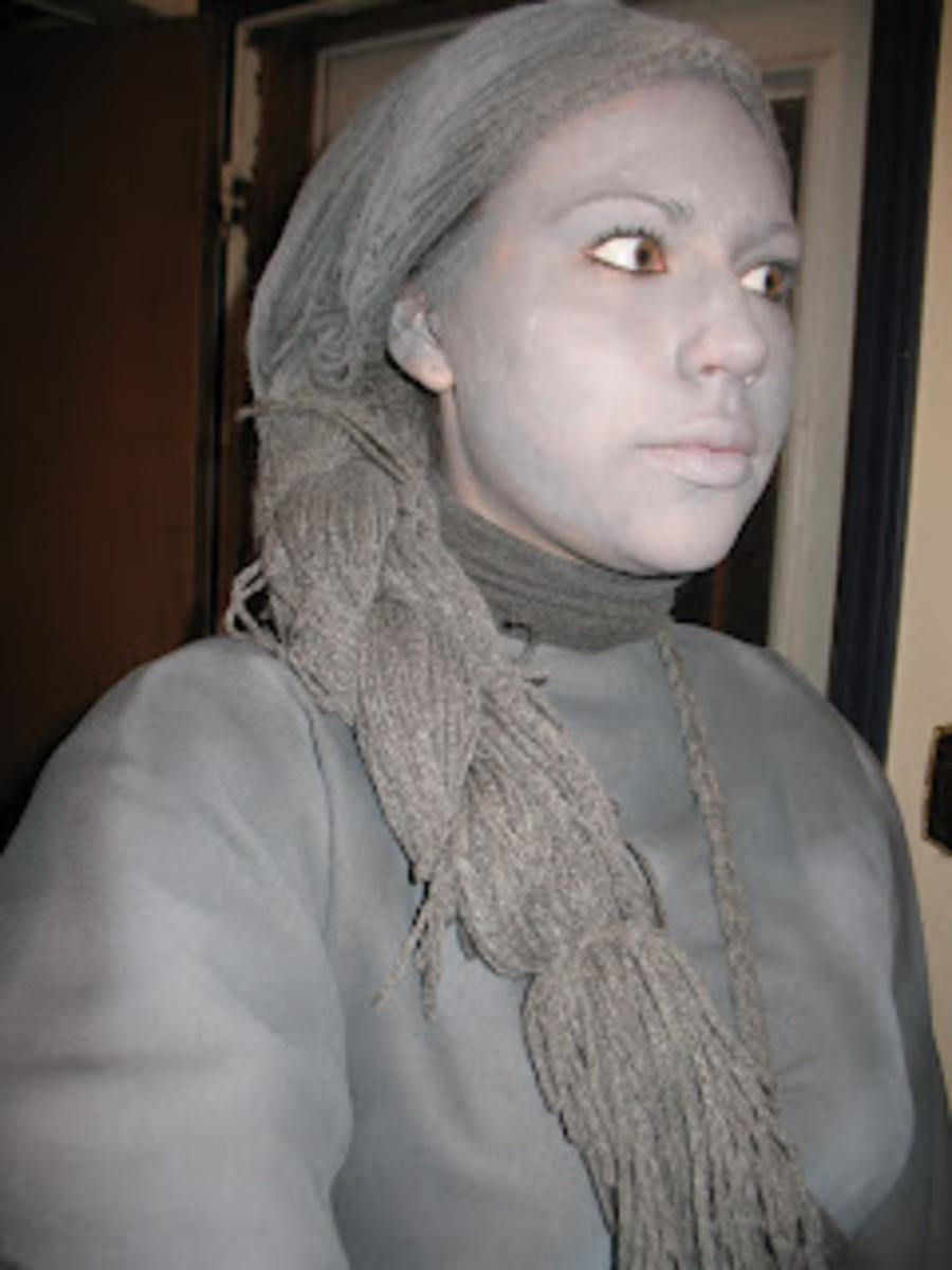 Grey Living Statue Wig