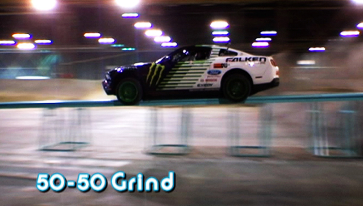 50-50 grinding a car