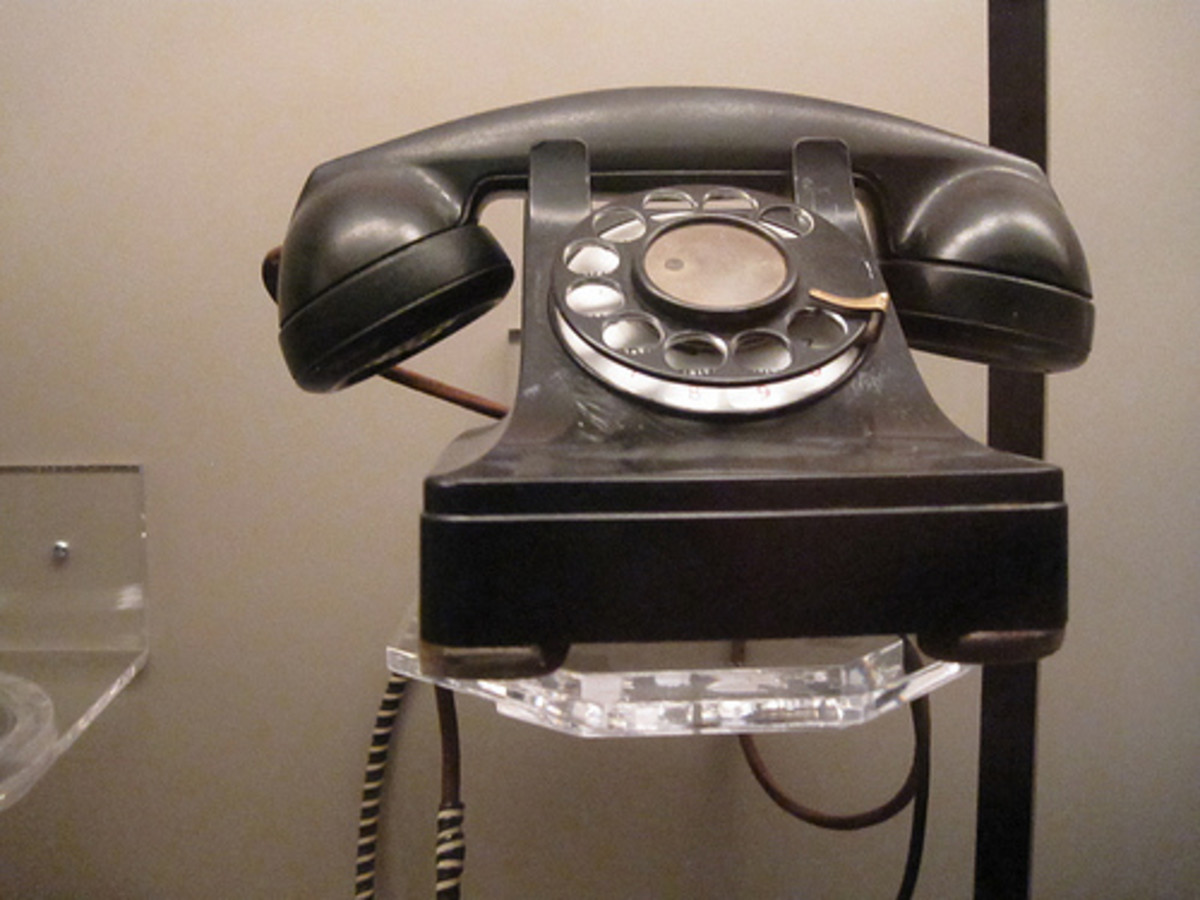 A 1946 telephone at the Henry Ford Museum, Detroit -- Can you imagine slavery in this post World War II era?