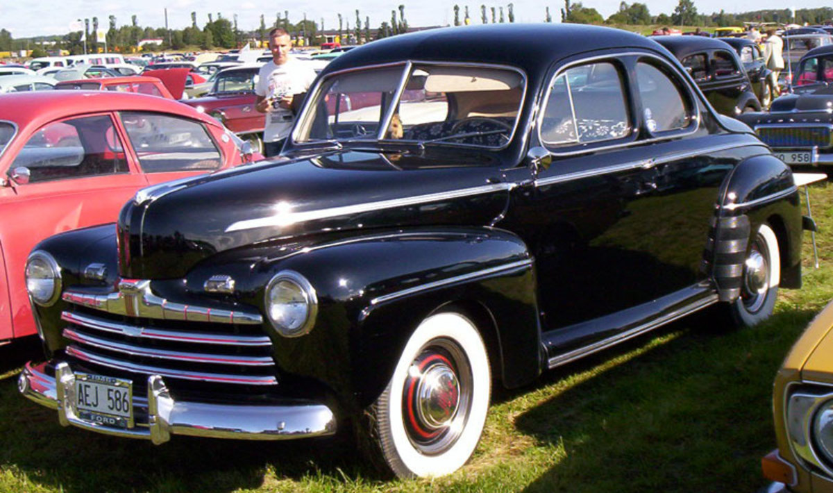 1946 Ford Model 69A, likely a car that the Ingalls would have owned.