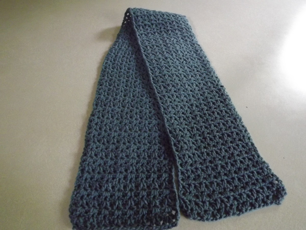 V-Stitch Scarf from Barb's Crochet Patterns