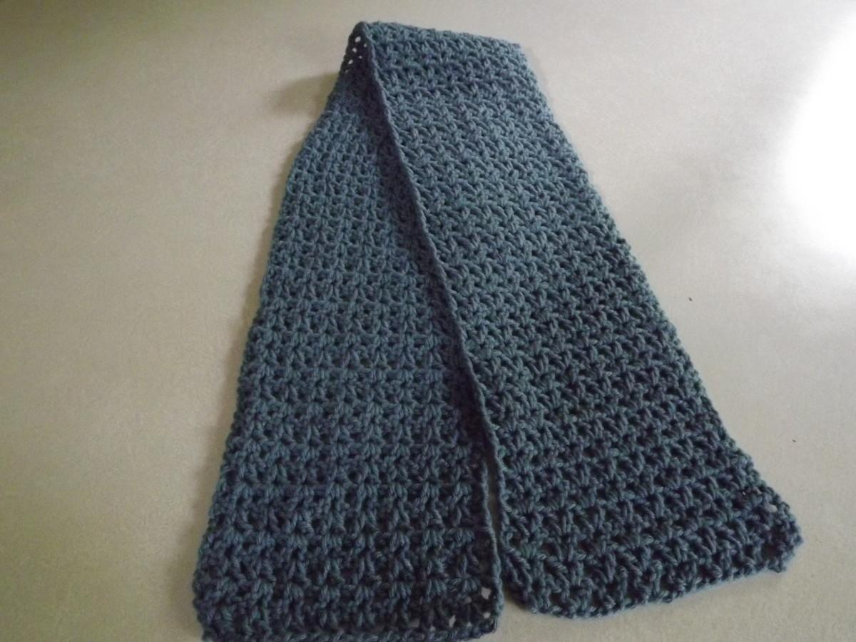 V-Stitch Scarf from Barb's Crochet Patterns