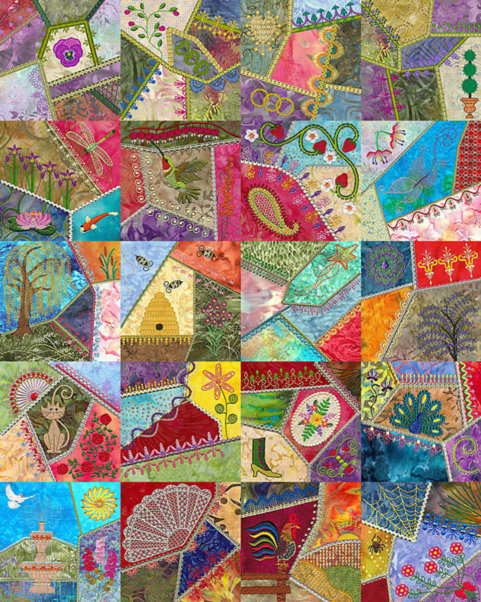 Crazy Quilt Pattern Fabric : Crazy Quilting: Repurpose your Sewing Scraps