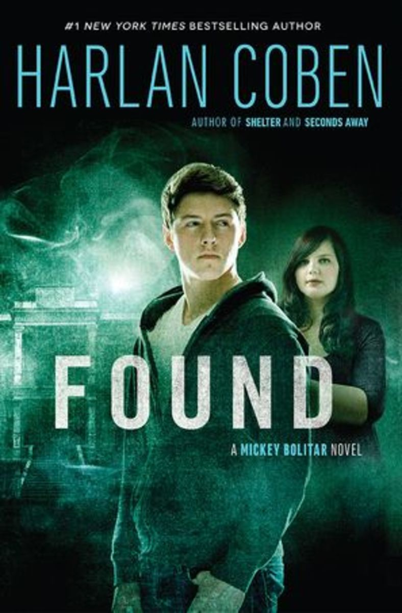 Found by Harlan Coben - book #3 in the Mickey Bolitar series. Doesn't the cover look cool?