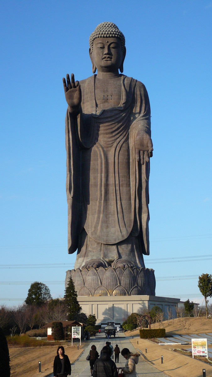 Statue of Buddha showing Vitarka-mudra