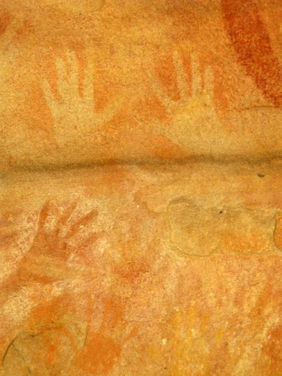 An example of rock art in Australia