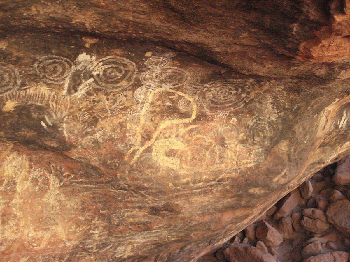 An example of Aboriginal rock art