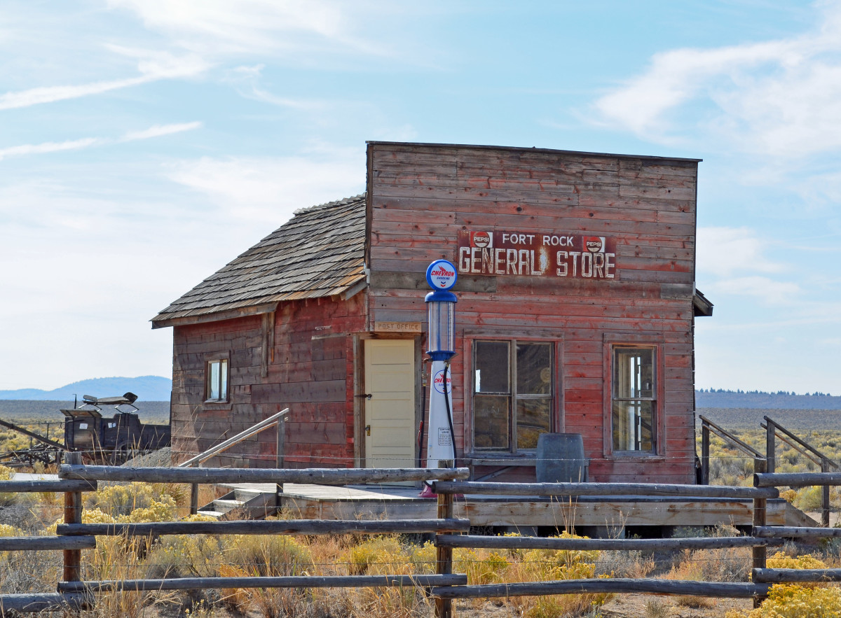 Original Fort Rock General Store building from the 1900's.