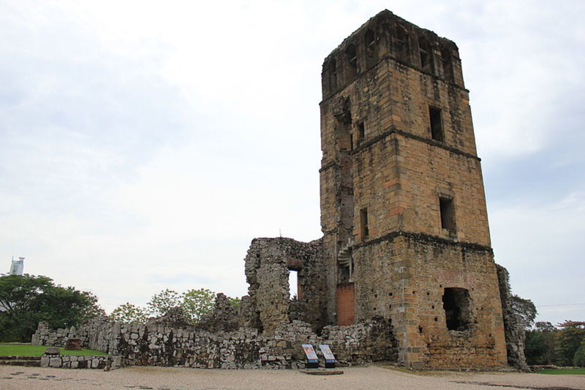 Henry Morgan's 1671 raid on Panama City left the city in ruins, which are still visible today.