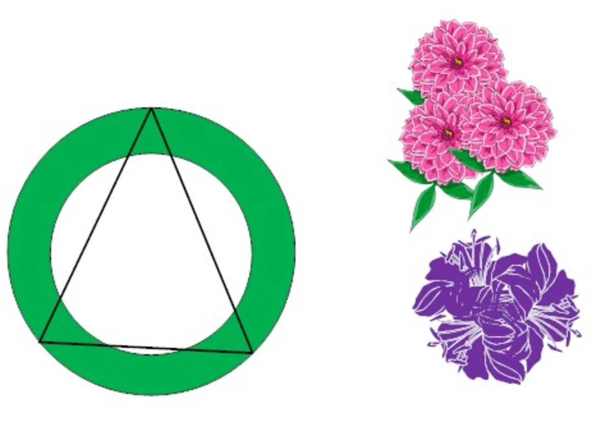 The rule of three. Use three blossoms together.  Add one bunch at each point on the triangle.