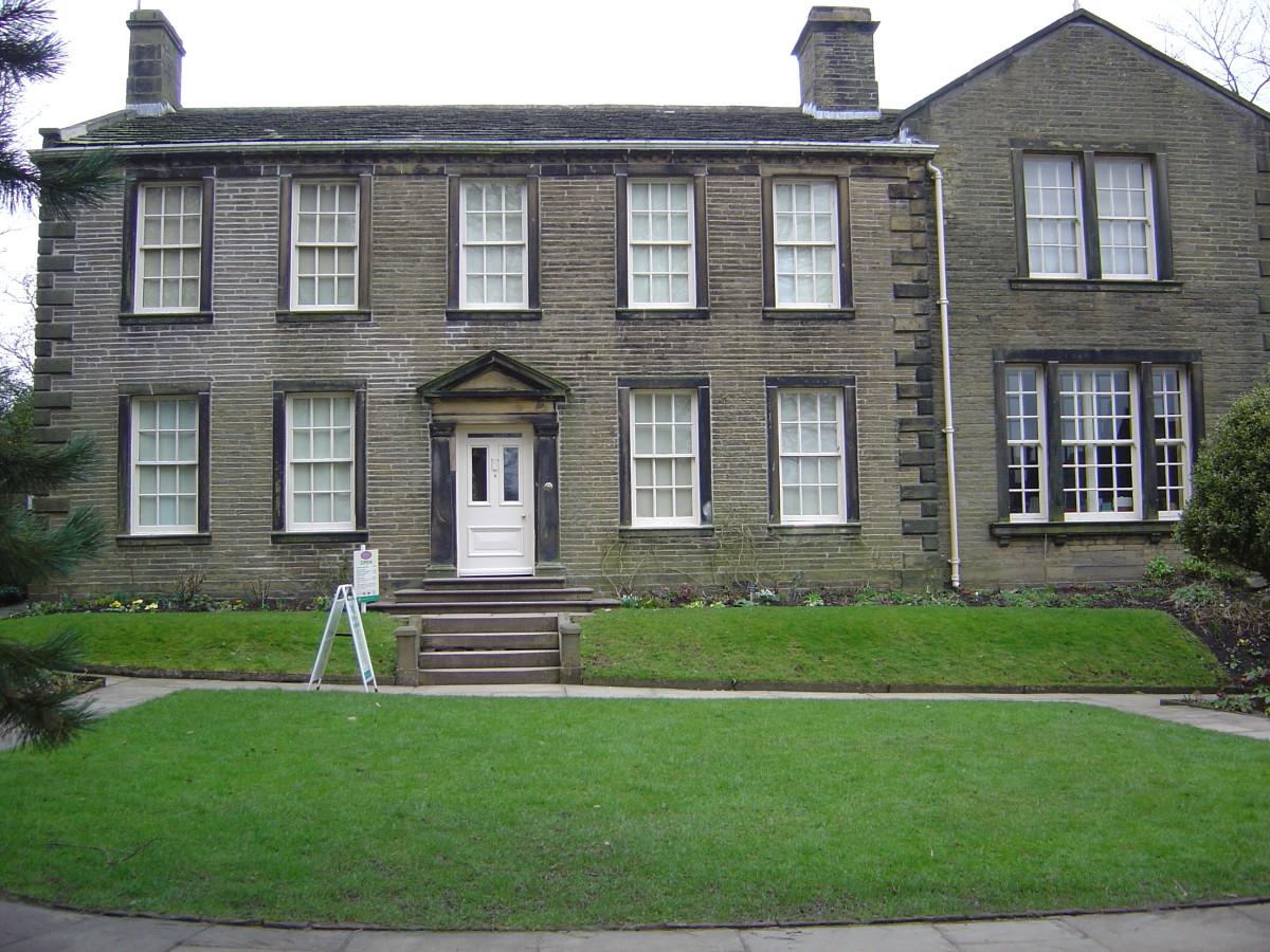 The Bronte parsonage museum, Haworth, in Yorkshire, England, open today to visitors.