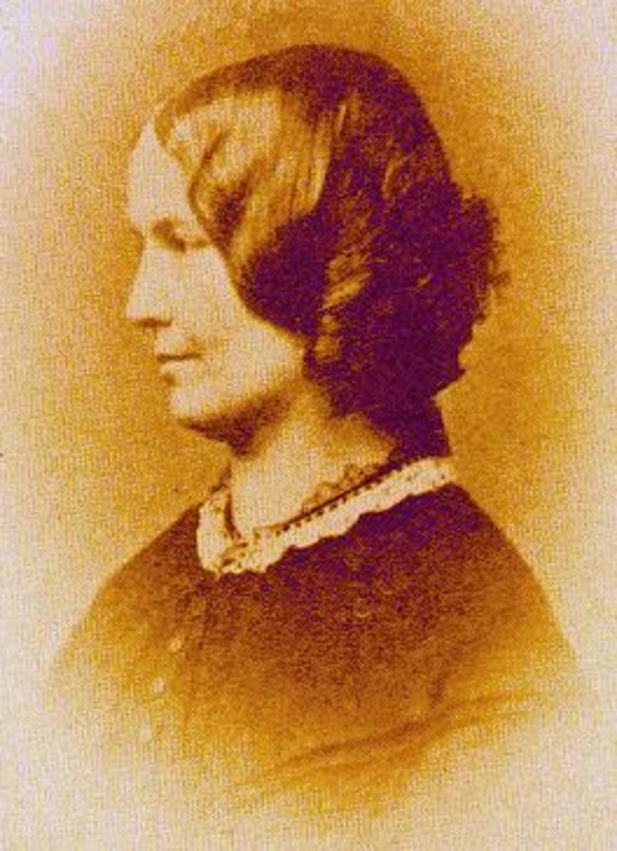 Photograph of Charlotte Bronte - 1854.