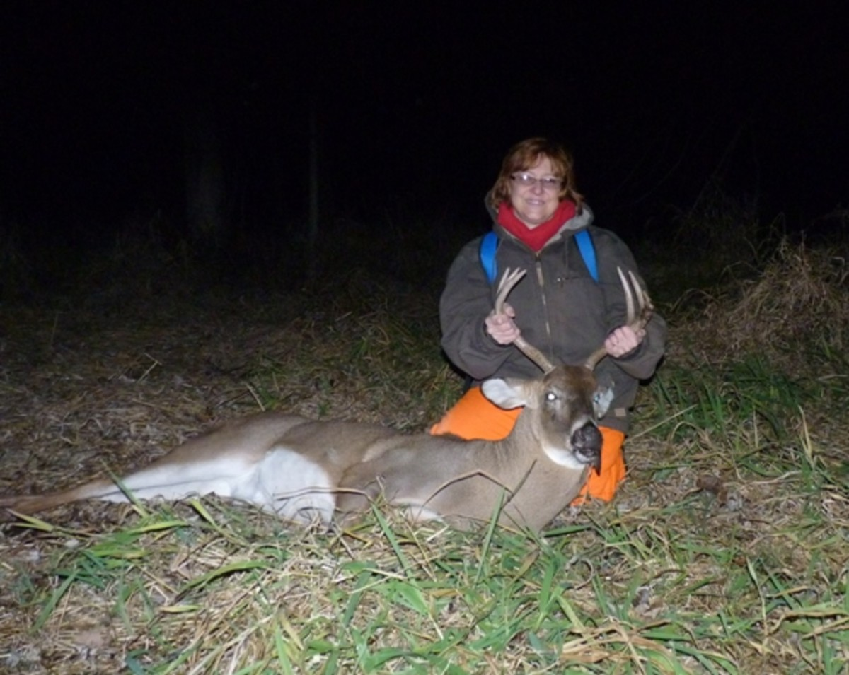 My wifes 6 point from 2011 Shotgun season