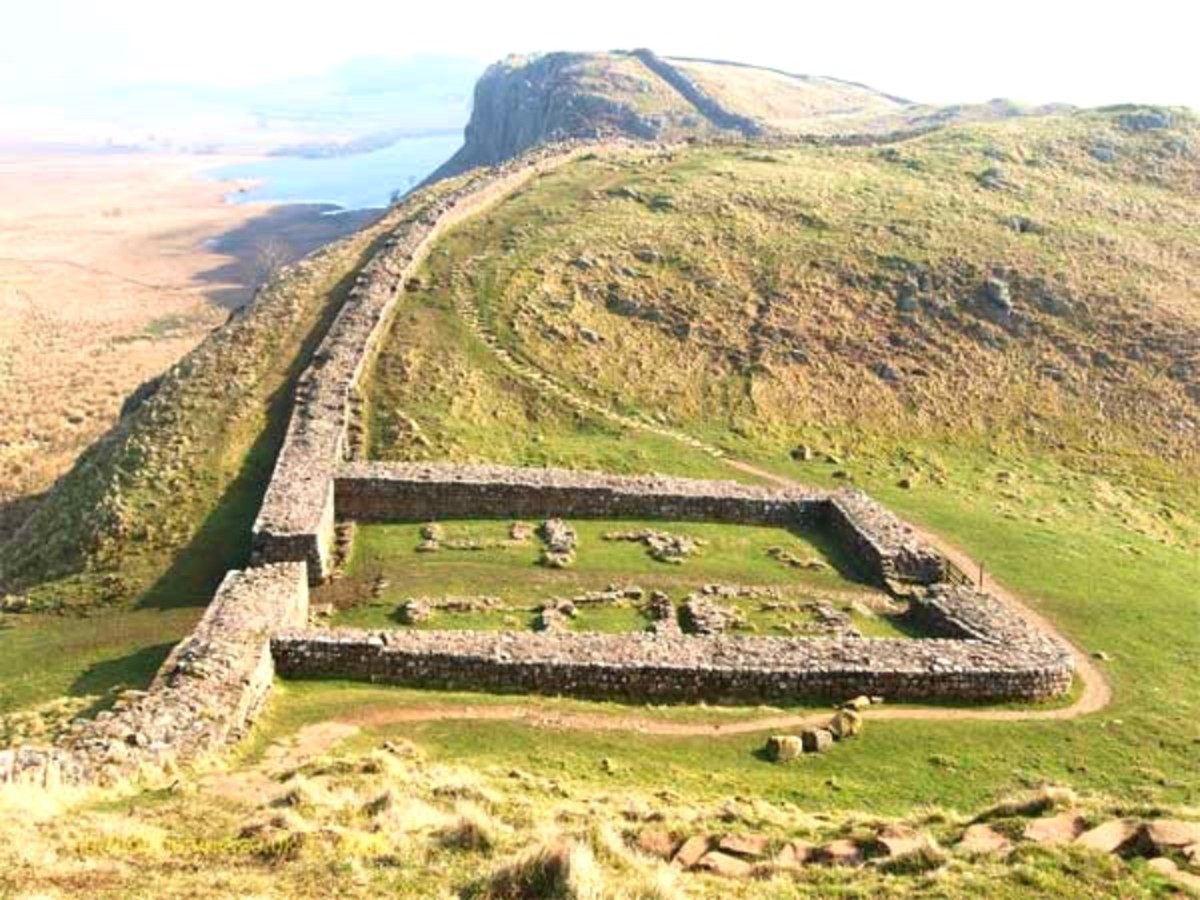 Foundations of a milecastle - much of the fabric of the structure would have been taken for local building material after the wall fell into disuse